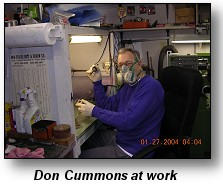 Don Cummons at work